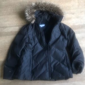 Calvin Klein Black Hooded Down Quilted Down Sz XL